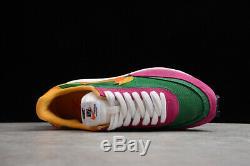 Sacai x Nike LVD Waffle Daybreak 2019 Women's Running Trainers Shoes pink&green