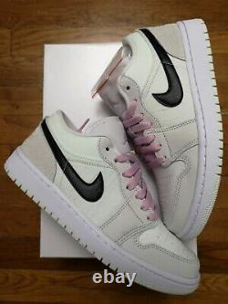 Size 7.5With6M, 8With6.5M Womens Air Jordan 1 Low SE Barely Green Pink IN HAND