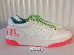 Stunning Designer Womens Chanel SS2020 Style Trainers UK 6 39 Neon Pink Green