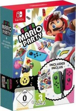 Super Mario Party Joy-Con Set Nintendo Switch Green/Pink New \ Sealed