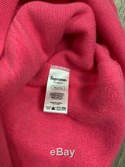Supreme box logo hoodie green on pink fw17 Xlarge