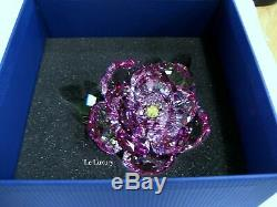 Swarovski Peony, Flower Pink Green Yellow Crystal Authentic MIB 5136721