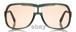 TOM FORD FT0800 93E Sunglasses Green Frame Brown Pink Lenses 62mm