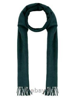 Thomas Pink Merino Wool & Cashmere Blend Signature Scarf Green Size 78 X 12