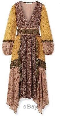 Ulla Johnson Primrose Dress Tropical NWT NEW 4 Yellow, Pink, Rose, Green. Brown