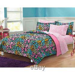 Ultra Soft Purple Neon Green Black Blue Animal Pink Girls Comforter Set & Sheets