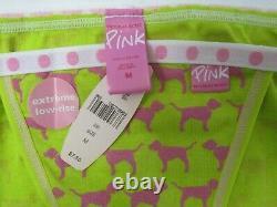 VINTAGE Victoria Secret Pink POLKA DOT BAND COTTON String Bikini PANTY M STRAPPY