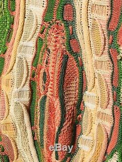 VTG 1990s COOGI Australia Cosby BIGGIE Smalls SWEATER RARE Watermelon Pink Green