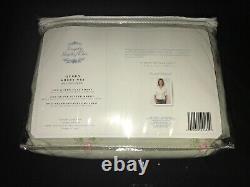 VTG Simply Shabby Chic Rachel Ashwell Pink Roses on Green 4PC Queen Sheet Set