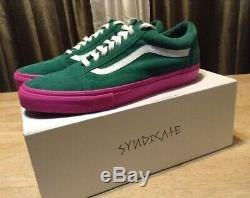 Vans Old Skool Pro Syndicate (Golf Wang) Green/Pink Size 11.0 Brand New