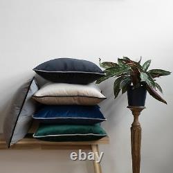 Velvet Cushions Rectangle Cushion Navy Blue Blush Pink Green Grey Sofa Case
