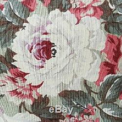 Waverly OLD MILL INN VINTAGE COLLECTION Fabric 55 x 9+yds Green/Pink Floral NOS