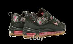 Women's Nike Air Max 98 CAMO GREEN FLORAL BLACK PRINT PINK AQ6468-300 sz 6