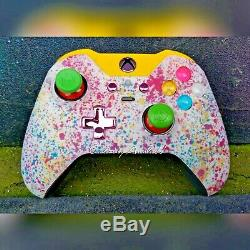 XBOX ONE ELITE WIRELESS CONTROLLER CUSTOM SKITTLES WithGREEN SCUF WithPINK/PUR LED