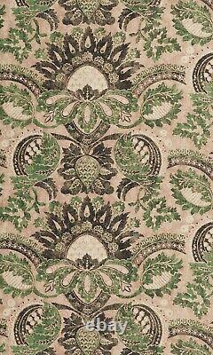 Zoffany Curtain Fabric'POMEGRANATE PRINT' 3 METRES TUSCAN PINK/HUNTSMAN GREEN