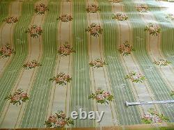 10y Lee Jofa Valentina Lampas Clover Green & Rose Rose Lampas Stripe Mrrp396/y