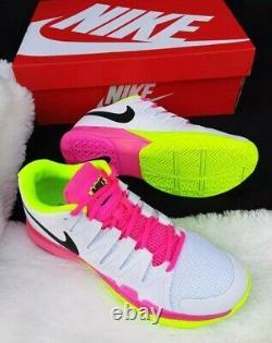 11 Nike Zoom Vapor 9.5 Tour Vert Rose Blanc 631475 107 Chaussures De Tennis