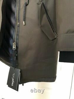 1300 $ New Mackage Chara Down Pink Silver Fox Fur Parka Military Green Jacket Xs