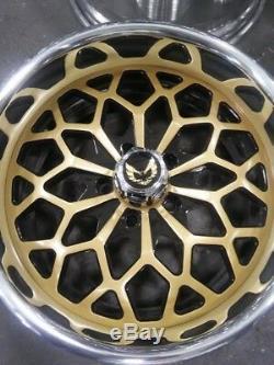 17 Jantes En Aluminium Forgées Par Année De Flocon De Neige D'or De Roues De Pro Wheels Faites Sur Commande Une