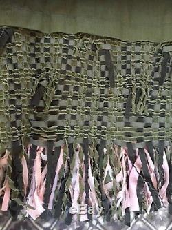 17c Chanel Nouveau Cuba Rose Vert Frangées Veste Boutons CC Boisé Fr34-36 7,9 K $