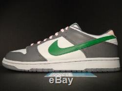 2003 Nike Sb Dunk Low Pro Twisted Prep Gris Vert Diamant Rose 624044-033 New 13