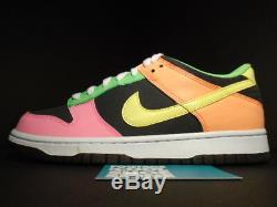 2010 Nike Dunk Low Highlighter Gris Jaune Rose Vert Orange 310569-071 Ds 7y 7