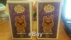 2017 Sdcc Scooby-doo Rose Et Vert Floqué Le 1000 Pcs De Funko Pop Funko Pop
