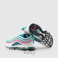 2018 Nike Air Max 97 South Beach Miami Qs Vert De Pâques Rose 921826-102 4y-5y Gs
