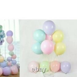 20 Ballons De Couleur Pastel 10inch, Couleurs Macaron, Rose, Pêche, Citron, Vert Etc