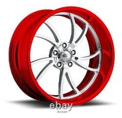 20 Pro Billet Wheels Rims Scorpion 5 Forged Candy Red Line Spécialités