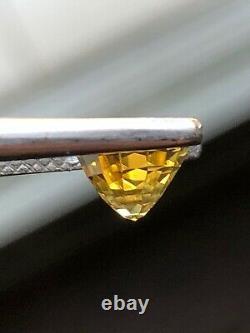 2,64 Ct Naturel Certifié Alexandrite, Changement De Couleur Jaune-vert Pour Orange-rose