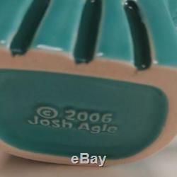 2 Shag Crâne Tiki Tasse En Verre Japan Rare Josh Agle Nouveau Vernis Rose Vert