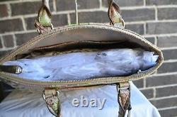 $315 Nwt Brahmin Large Duxbury Atlas Melbourne Satchel Beige Rose Vert