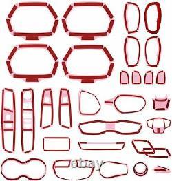 31pcs Accessoires D'intérieur De Voiture Couvrez Le Kit De Garniture Vert Pour Jeep Renegade 2015-2020