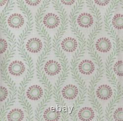 3,5 Mètres X Colefax Et Fowler Swift 100% Tissu Lin Rose/vert