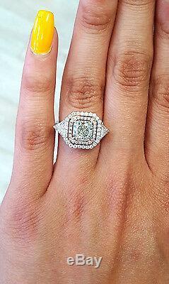 3 Ct Rare Fantaisie Naturel Green Rose Couleur Bague De Fiançailles Diamant Certifié Gia