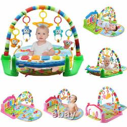 3 En 1 Baby Gym Play Mat Lay & Play Fitness Music And Lights Fun Piano Green