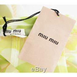 40 $ 2 725 Miu Miu Piste Ivoire Rose Floral Vert Semi-diaphanes Raincoat Manteau Veste