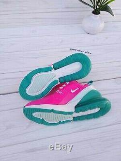 5.5y 7 Air Femmes Nike Max 270 Vert Rose Blanc Courir Casual Cj9979 300