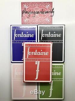 5 Decks Fontaine Supreme Retour Cartes À Jouer Rouge Bleu Noir Rose Vert Virtuoso