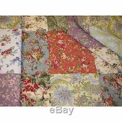 5 Pcs Floral Patchwork Bleu Vert Rose Violet Rouge Rose Rose Couette Douce Ensemble