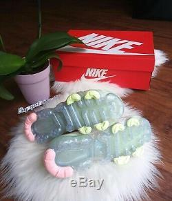 7.5 L'air Des Femmes Nike Flyknit Vapormax 3 Sucre Rose Vert Fonctionnement Aj6910 700