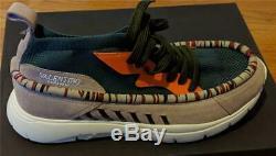 $ 945 Hommes Valentino Garavani Wallaby Sock-knit Chaussures Vert / Rose 43 Us 10