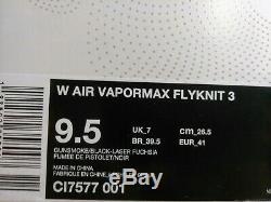 9,5 Nike Air Vapormax Flyknit 3 Nike Air De Course Multicolore Rose Vert Ci7577 001
