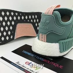 Adidas Nmd Us Uk 3 4 5 6 7 8 9.5 Vapor Steel Vert Rose R1 Teal Gs Womens Size