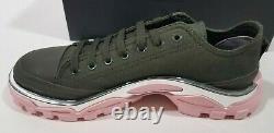 Adidas Raf Simons Vert Rose Détroit Runner Sneakers Chaussures Gift