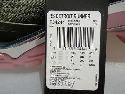 Adidas X Raf Simons Detroit Runner Us11 Hommes Uk10.5 F34244, Vert / Rose / Chrome
