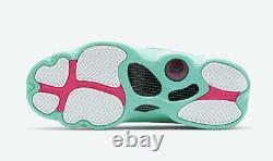 Air Jordan 13 Rétro Gs Aurora Green Soar Digital Pink 439358-100 Taille 4y-7y
