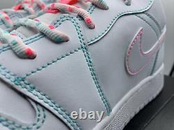 Air Jordan 1 Rétro Low Gs Taille 7y I W8.5 Blanc Vert Sarcelle Rose 554723 101