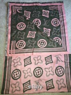 Alpha Kappa Alpha Authentique Louis Vuitton Monogramme Rose / Vert Stole Scarf Shawl